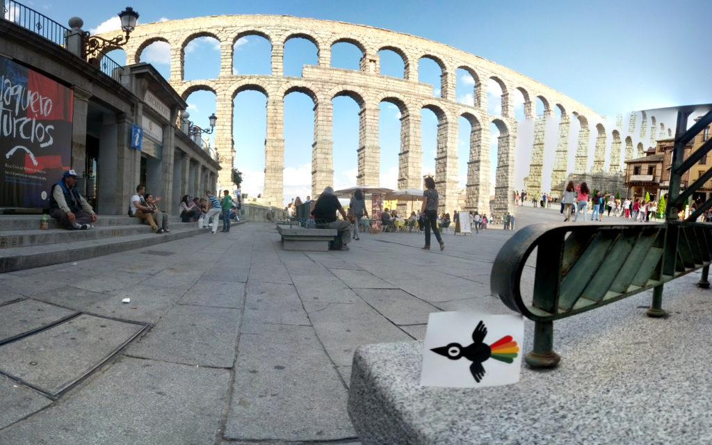 3D Wire – Bambaro a los pies del acueducto de Segovia