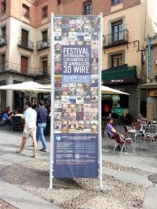3D Wire – Cartel publicitario en las inmediaciones del Acueducto de Segovia