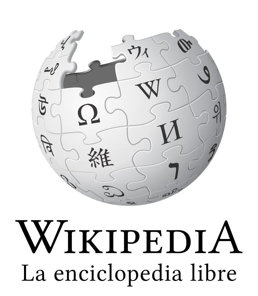Logotipo de Wikipedia España  Fuente: https://commons.wikimedia.org/wiki/File:Wikipedia-logo-v2-es.svg  Licencia: CC by-sa